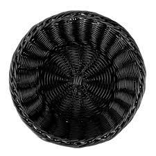 Rattan Baskets by Tablecraft M2475 Black Round Rattan Basket 8 1 4