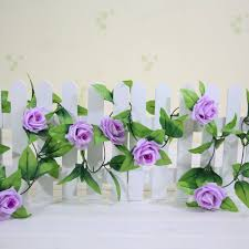 Artificial Flowers Home Decor by Artificial Rose Garland Flower Vine Ivy Home Decor Wed Direct