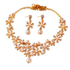 best pearl necklace images Buy women 39 s accessories pearl necklace earrings sets 14k yellow jpg