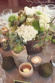 rustic center pieces 20 rustic wedding centerpieces with bark container 2537163 weddbook