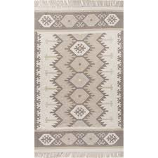 Jaipur Outdoor Rugs Jaipur Indoor Outdoor Tribal Pattern Ivory Neutral Polyester Area