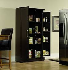Amazoncom Sauder Double Door Storage Cabinet Large Dakota Oak - Large kitchen storage cabinets