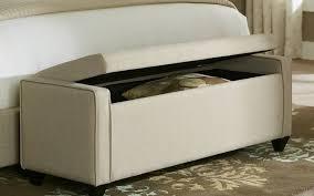 Storage Ottoman Stool by Sofa Ottoman Footstool Upholstered Storage Bench Storage Cube