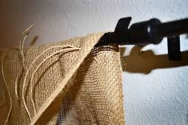 Linen Burlap Curtains Babblings And More No Sew Burlap Curtains