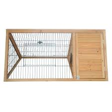 Heavy Duty Rabbit Hutch Pawhut Pawhut Outdoor Triangular Animal Rabbit Hutch U0026 Reviews