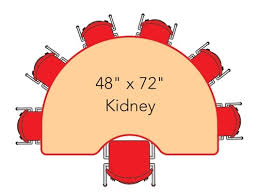 Kidney Table For Classroom Kidney Shaped 48x72 Preschool Activity Table Kids Activity