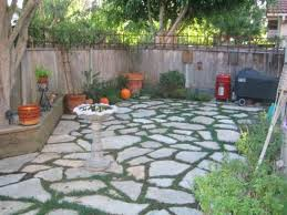 Easter Patio Decorations by Download Flagstone Backyard Garden Design