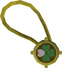 dazzling three leaf clover necklace runescape wiki fandom