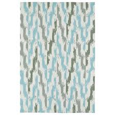 Ikat Indoor Outdoor Rug Seaside Ivory And Blue Ikat Indoor Outdoor Rug 8 X 10 Free