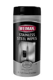 weiman kitchen appliance stainless steel rust clean u0026 polish wipes