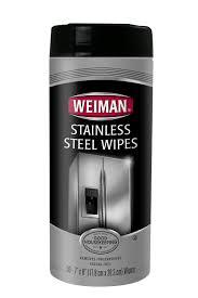 weiman kitchen appliance stainless steel rust clean u0026 polish wipes