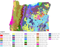 Oregon Forest Fires Map by Oregon Native Plant Provisional Seed Zones Jpg