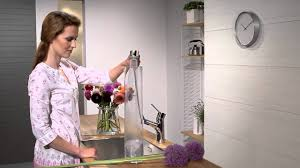 hansgrohe talis s kitchen mixer pull out spray youtube