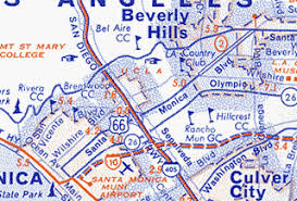 santa california map california route 66 maps