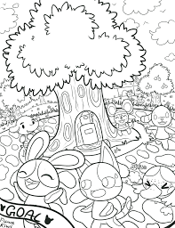 animal crossing new leaf coloring pages eson me