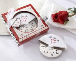 C Favors by Slice Of Pizza Cutter Wedding Favors