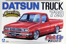 datsun nissan truck aoshima 1 24 datsun 720 pickup truck lowrider custom plastic model