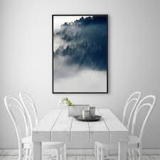 nordic living room landscape cloud forest nordic style popular canvas print painting