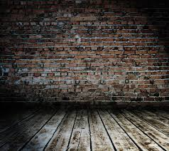 Dark Brick Wall Background Dark Red Brick Backdrop Weathered Brick Wall With Stained Wood