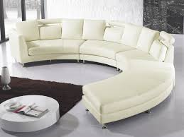 Curved Sectional Sofa Leather Curved Sectional Sofa Leather Rotunde Beliani