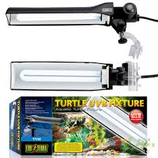 uvb light for turtles exo terra turtle uvb fixture 11w with bulb and support base ebay