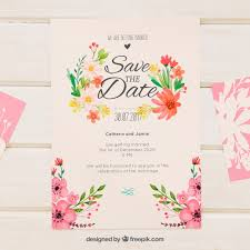 wedding invitations freepik retro wedding invitation with watercolor flowers vector free