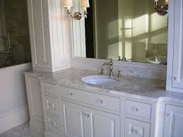 White Cabinet Bathroom Ideas Best Color For Granite Countertops And White Bathroom Cabinets