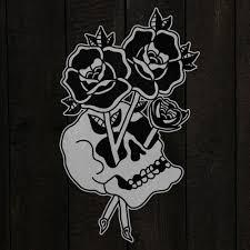 traditional skull graphic design flash