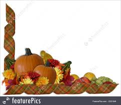 thanksgiving autumn fall ribbons border illustration