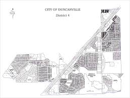 City Of Dallas Zoning Map by City Districts City Of Duncanville Texas Usa
