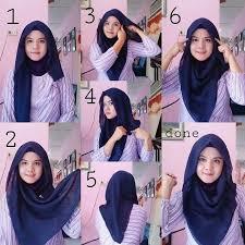 simple hijab styles tutorial segi empat tutorial hijab segi empat praktis hijab collection pinterest