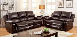 Rustic Leather Living Room Furniture Davenport Top Grain Leather Match Reclining Sofa From Furniture Of
