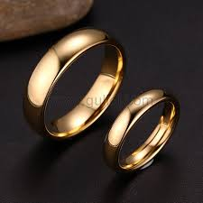 Couple Wedding Rings by His And Hers Titanium Wedding Anniversary Rings Set For 2