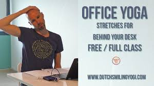 Desk Yoga Poses Office Yoga A Yoga Class For Behind Your Desk Video