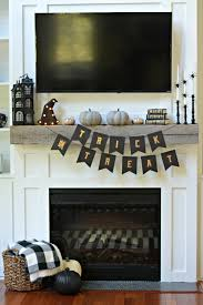 boo halloween mantel decor u2014 decor and the dog