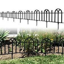 black decorative garden fence