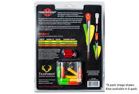 20 crossbow bolts with lighted nocks tenpoint omni brite universal lighted crossbow nock system