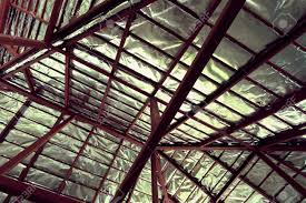 Insulation Blanket Under Metal Roof by Roof Foil U0026 An Ex U0026le Of A Radiant Barrier Shield Properly
