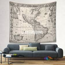 Map Wall Decor by Ancient World Map Wall Tapestry Vintage World Map Wall Hanging