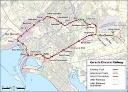 map of karachi karachi circular railway