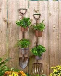 hanging planter metal garden basket wall herb pots indoor flower