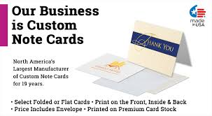 custom notecards flat cards custom business note cards printpps