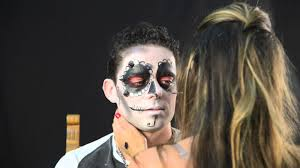 men halloween makeup sugar skull man makeup look youtube