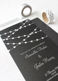 wedding invitations nz fairy lights rectangle wedding invitation