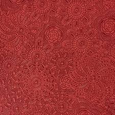 Poppy Home Decor by Upholstery Fabric Camden Poppy Designer Pattern Embossed