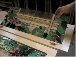 glass panels for cabinet doors how to install stained glass in a cabinet door gomm stained glass