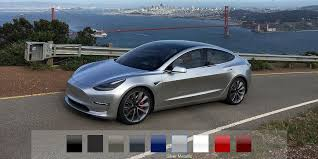 tesla says model 3 will have fewer than 100 configurations to