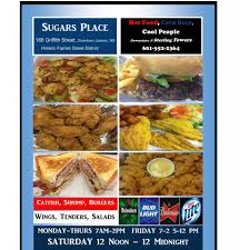 spot triangle cuisine sugar s place downtown home jackson mississippi menu