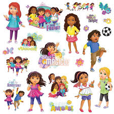 dora wall stickers ebay dora and friends 20 wall decals nickelodeon teen room decor stickers diego nick