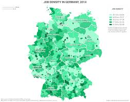 Bavaria Germany Map by Job Density In Germany Geopolitical Futures